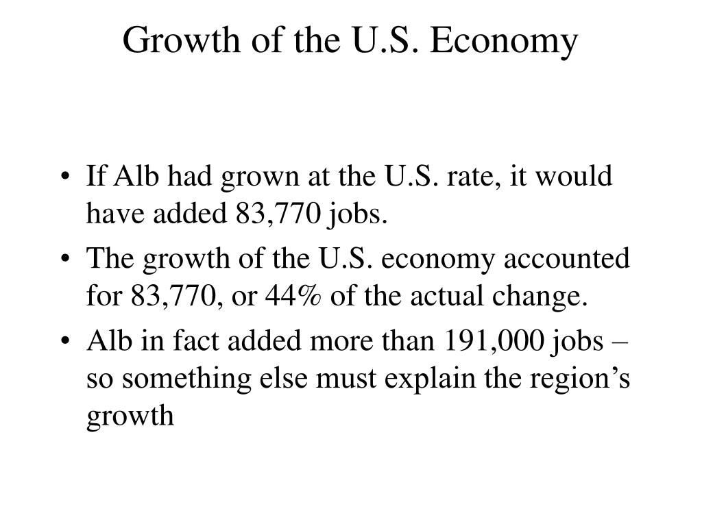 Growth of the U.S. Economy