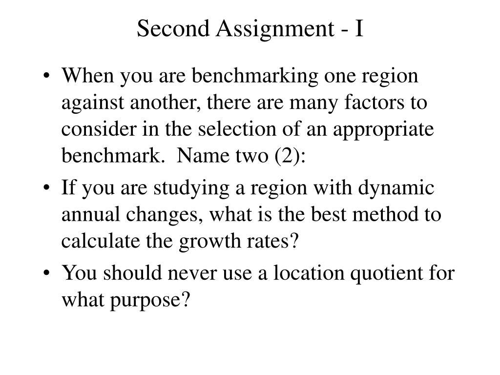 Second Assignment - I