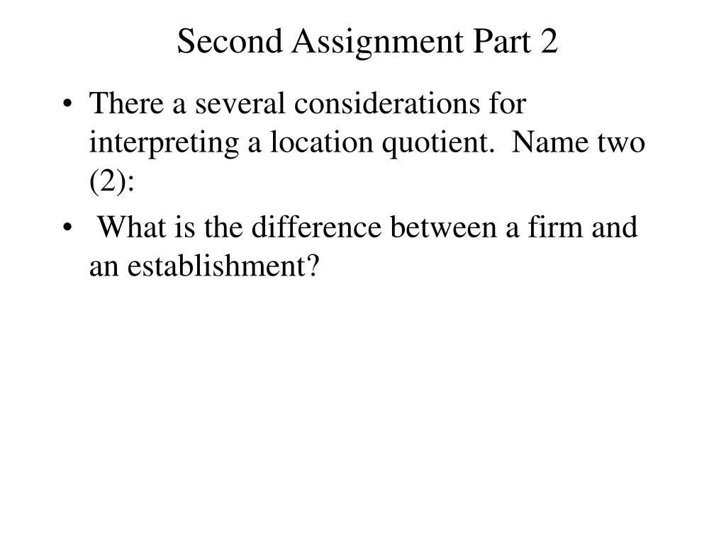 Second Assignment Part 2