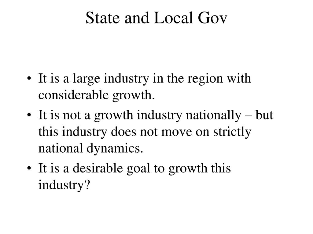 State and Local Gov