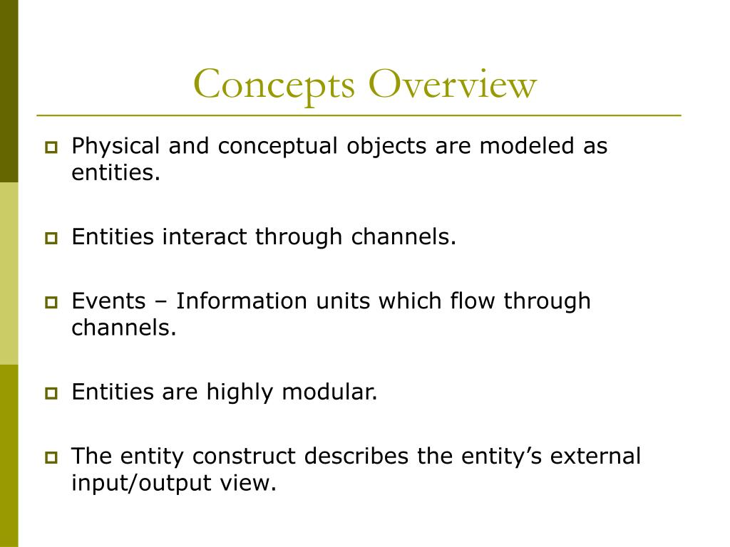 Concepts Overview
