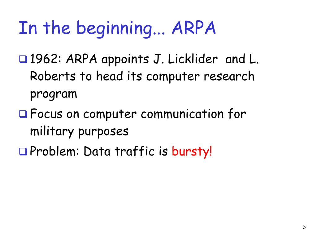 In the beginning... ARPA