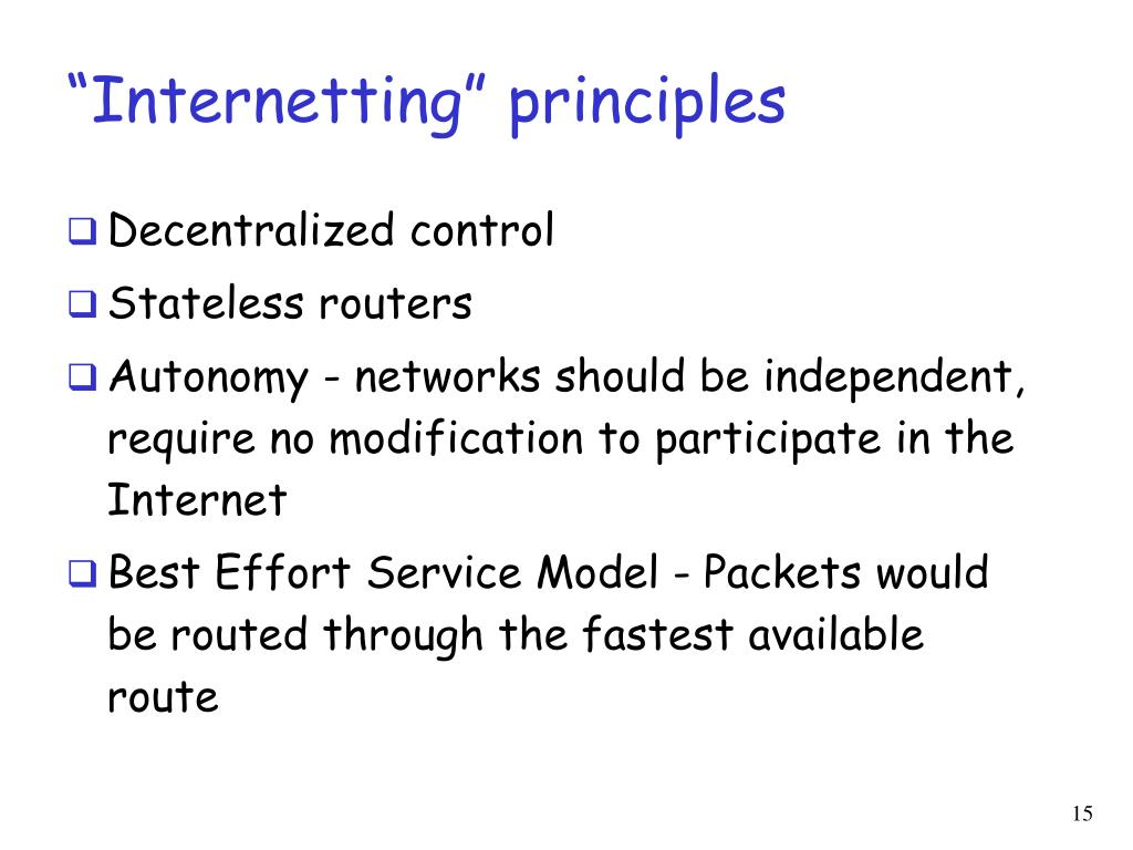 """Internetting"" principles"