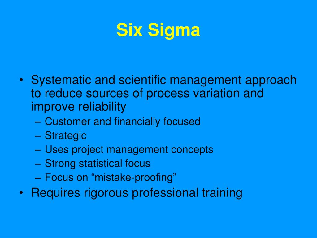 six sigma thesis proposal The following elaborate article can help you generate ideas of your own for a winning mba thesis topic sample presentations for a thesis proposal.