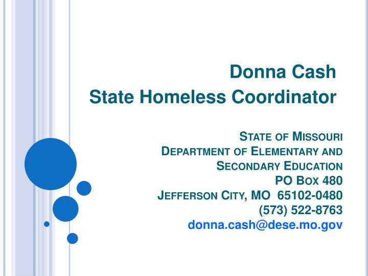 Donna cash state homeless coordinator l.jpg