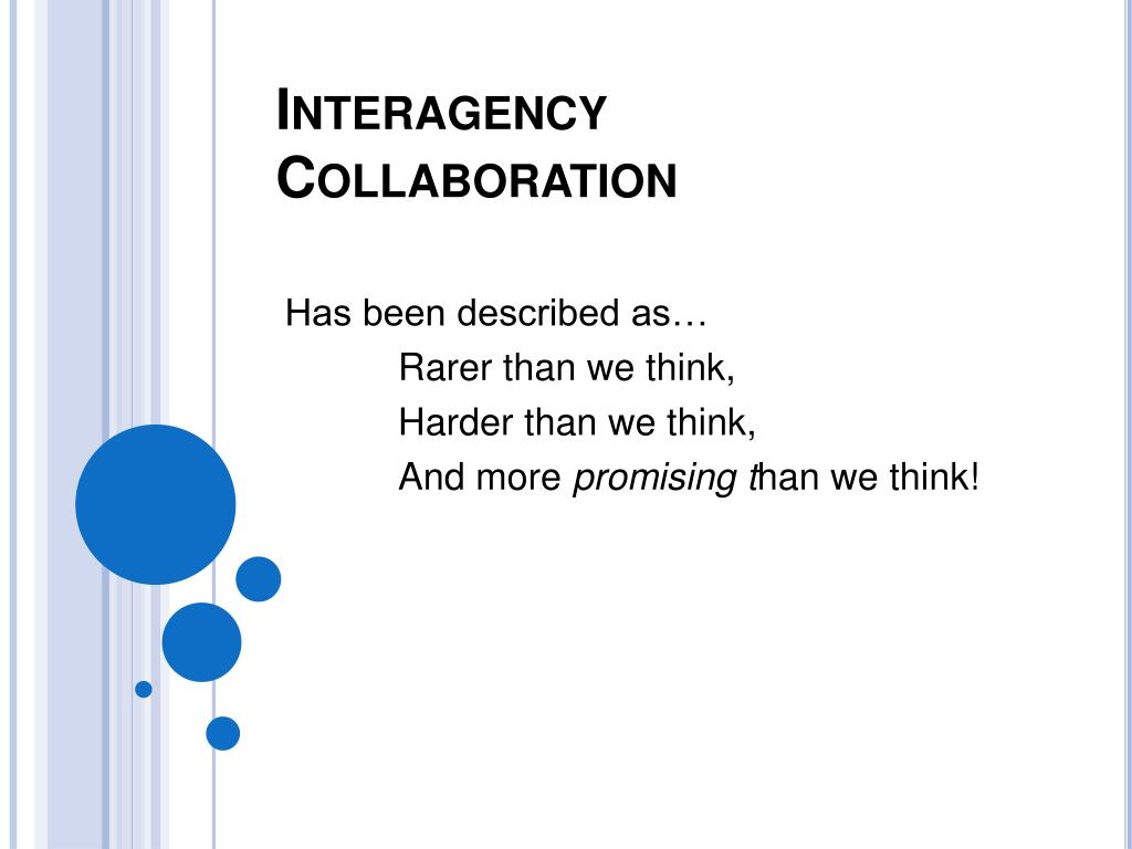 Interagency Collaboration