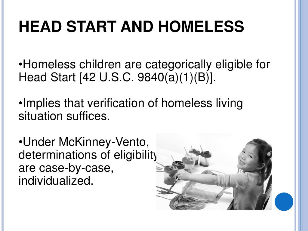 Head Start and HOMELESS