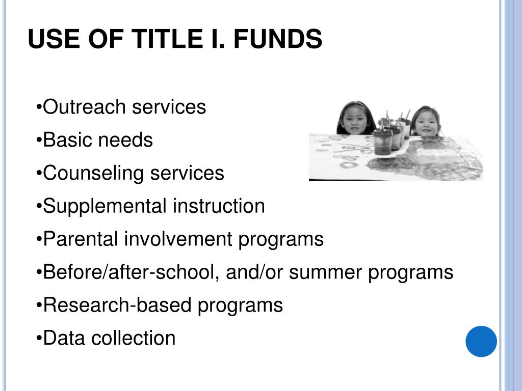 Use of Title I. funds