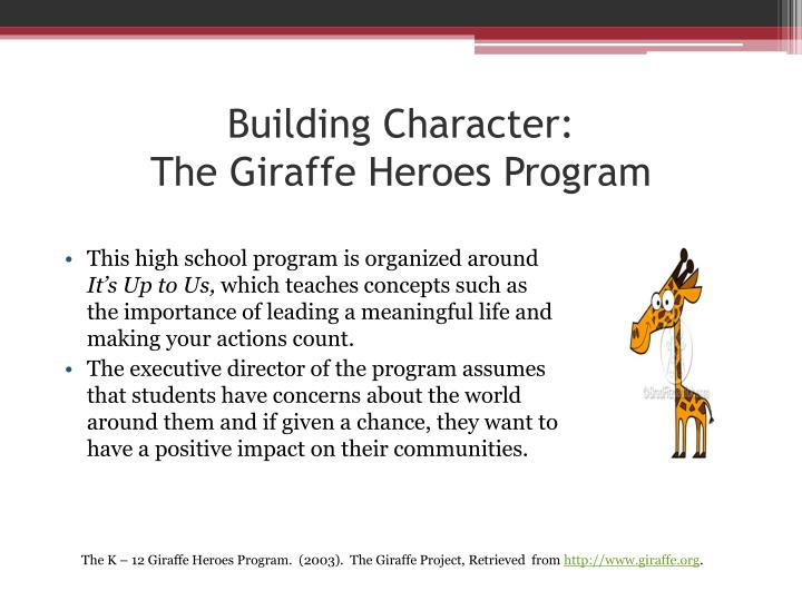 article character building in education