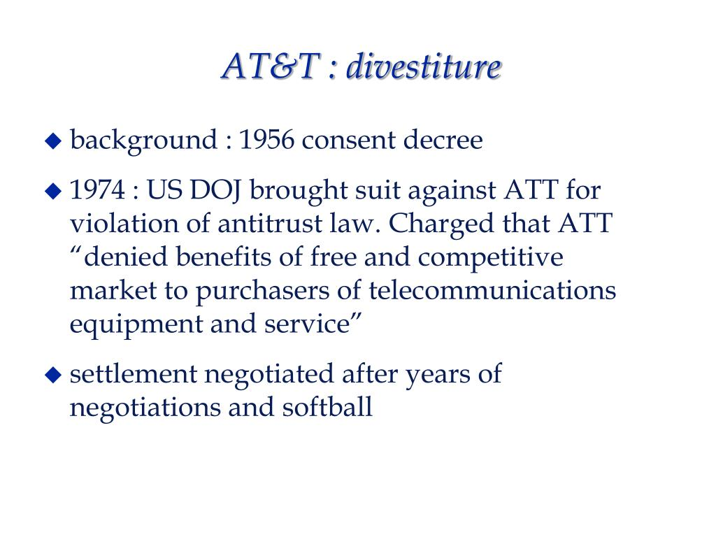 AT&T : divestiture