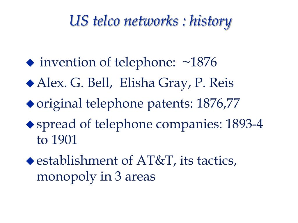 US telco networks : history