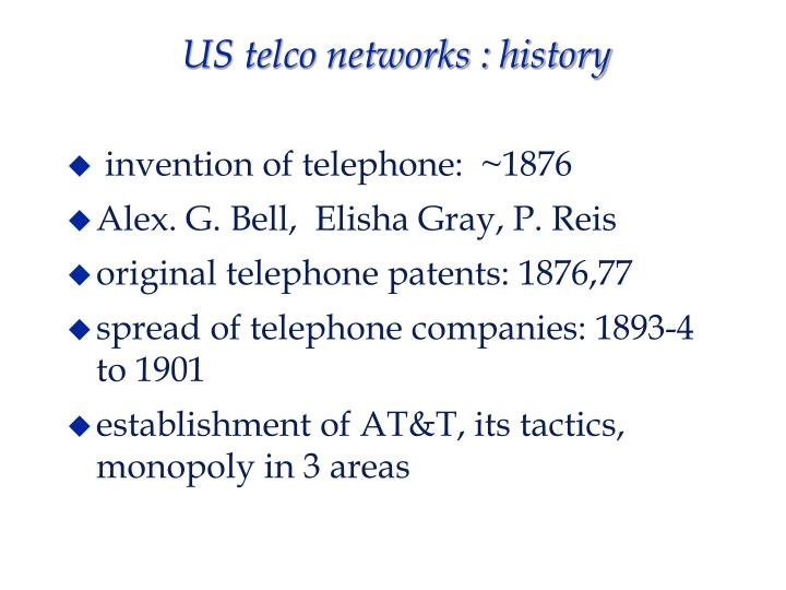 Us telco networks history