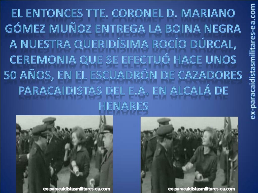 El entonces Tte. Coronel d. mariano