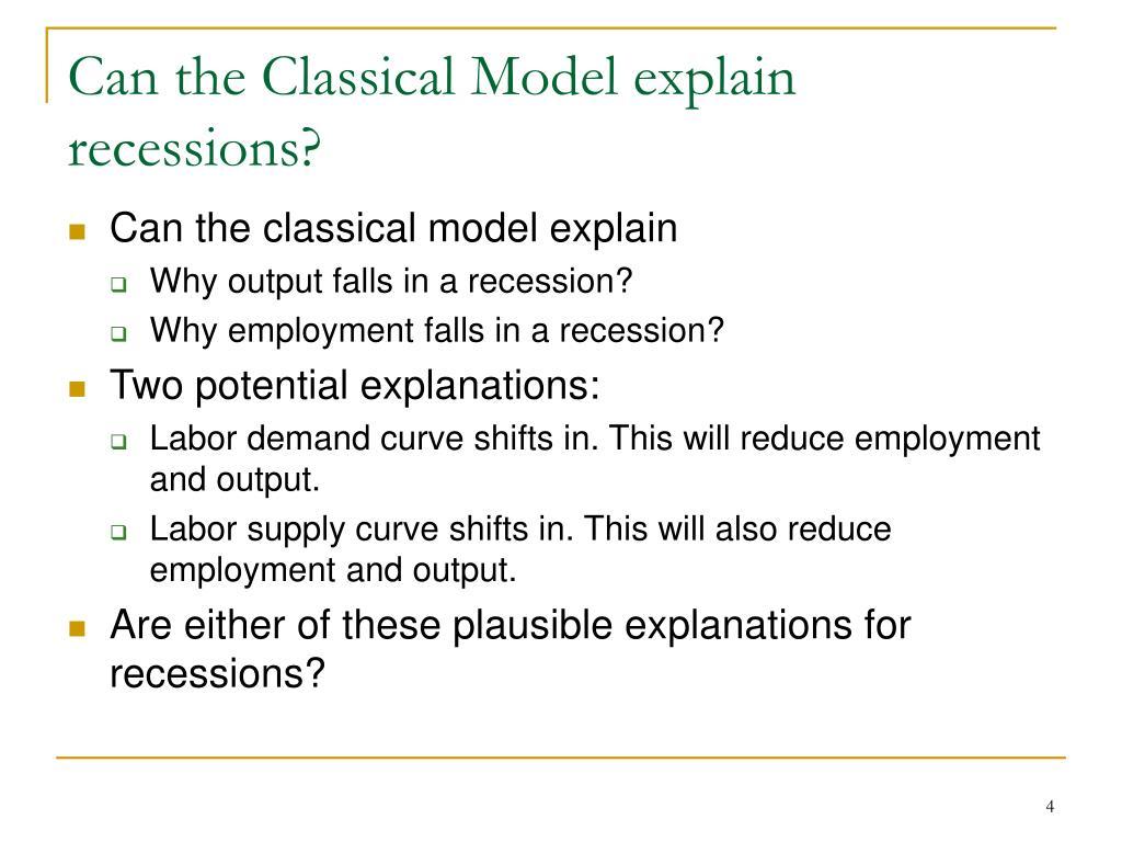 Can the Classical Model explain recessions?
