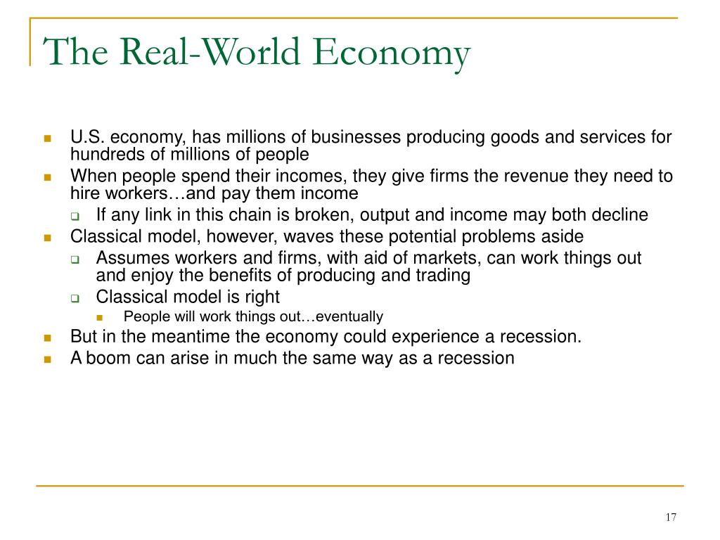 The Real-World Economy