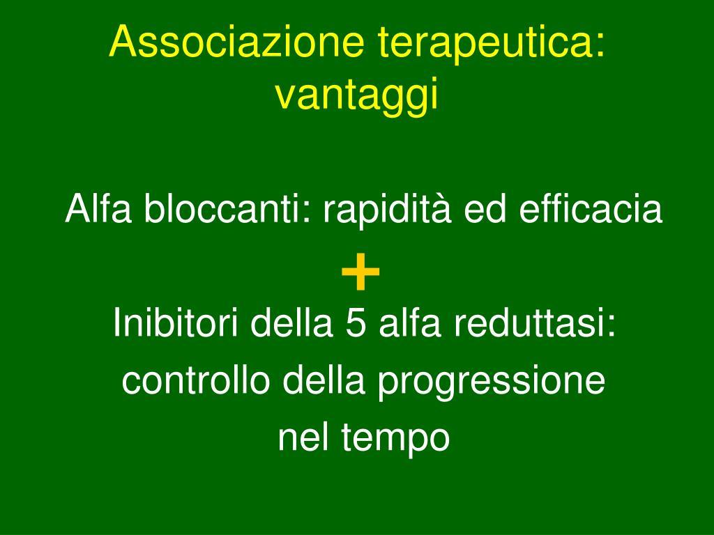 Associazione terapeutica: vantaggi