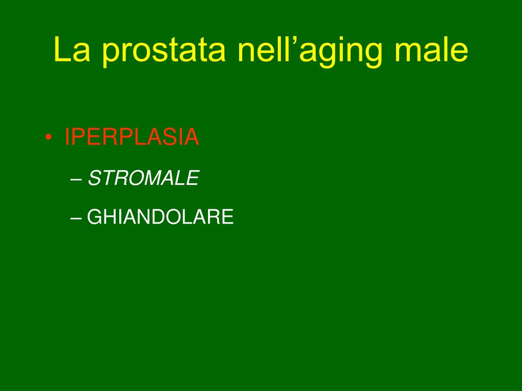La prostata nell'aging male