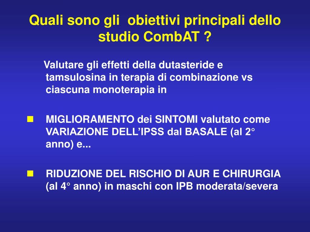 Quali sono gli  obiettivi principali dello studio CombAT ?