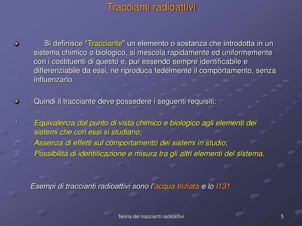 Traccianti radioattivi