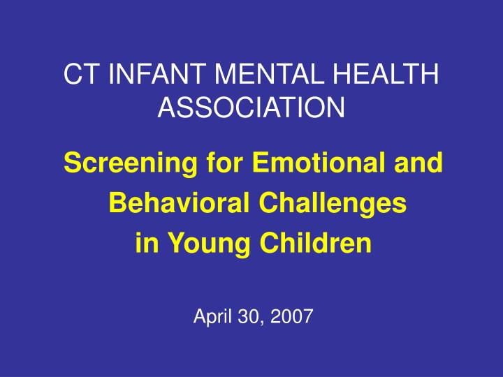 Ct infant mental health association2
