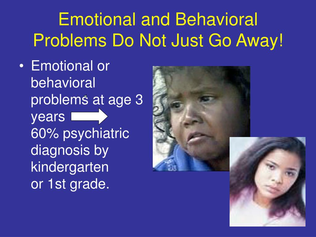 Emotional and Behavioral Problems Do Not Just Go Away!