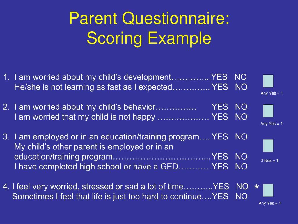 Parent Questionnaire: