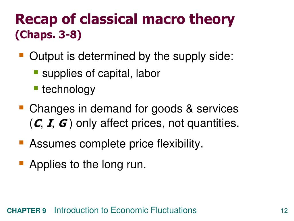 Recap of classical macro theory