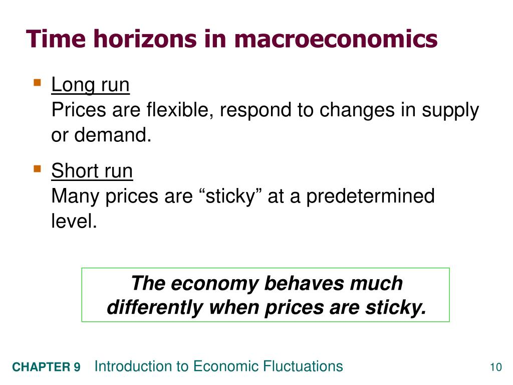 Time horizons in macroeconomics