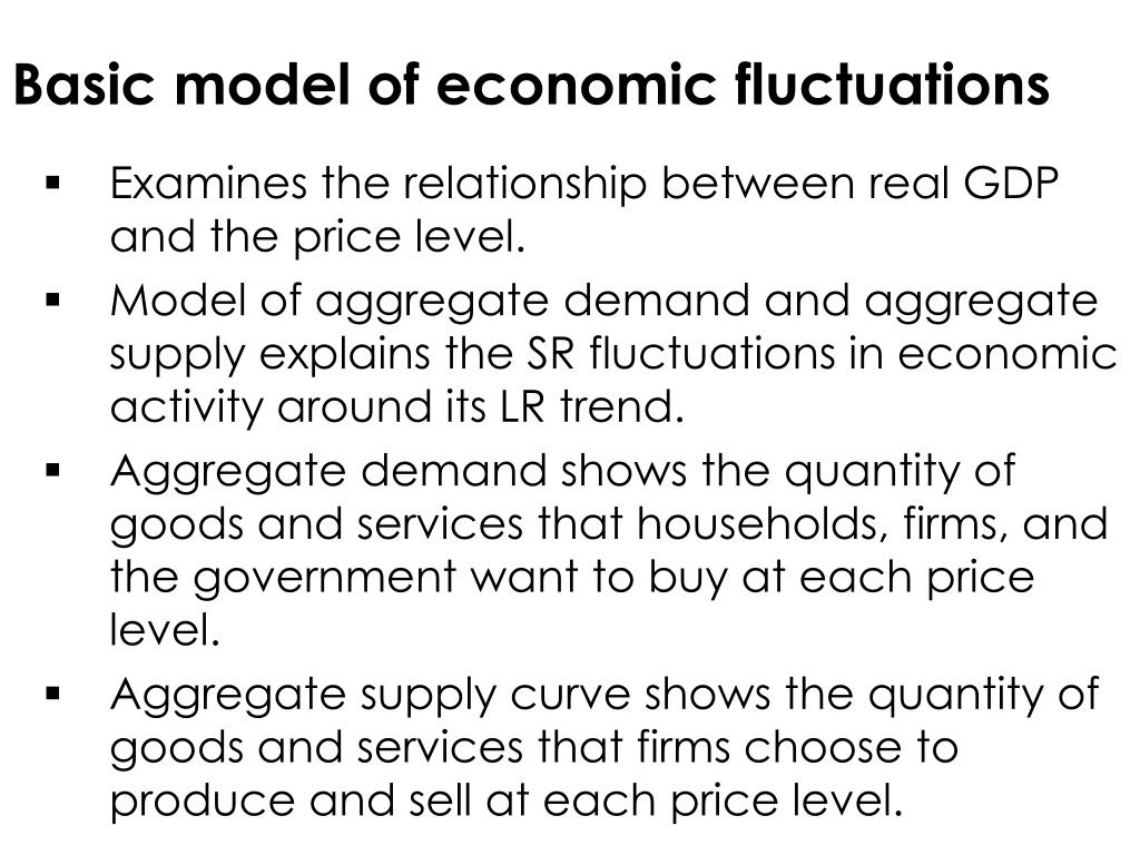 Basic model of economic fluctuations