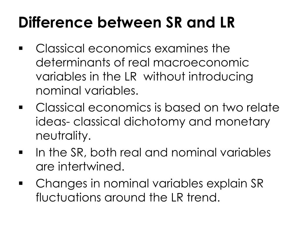 Difference between SR and LR
