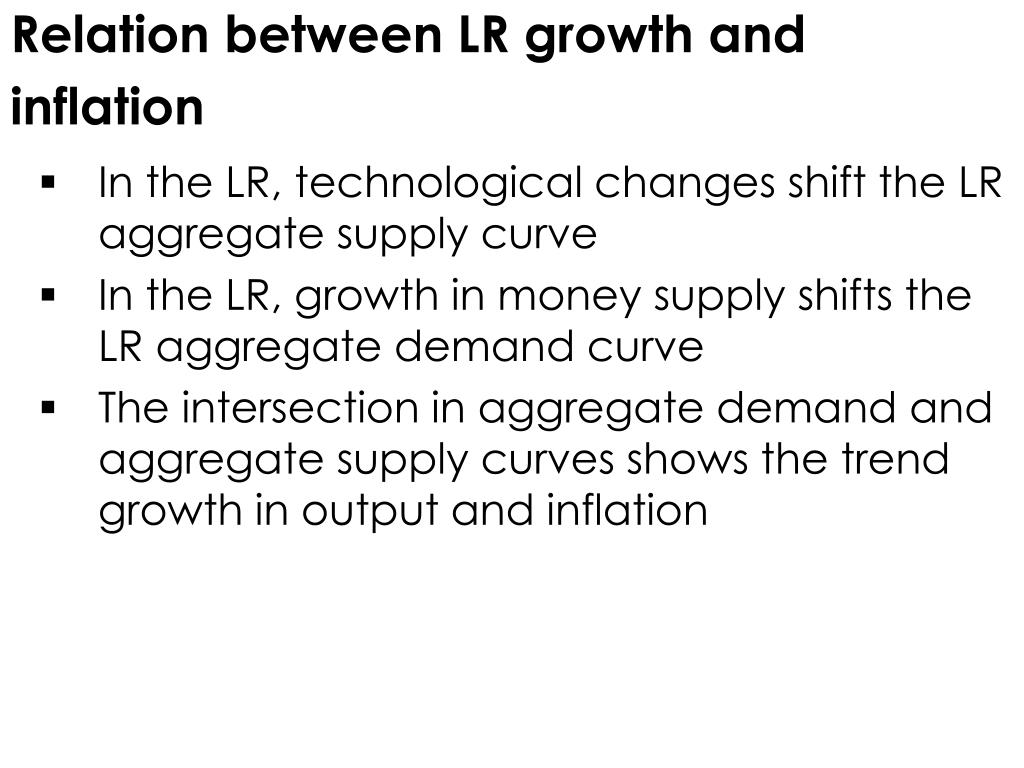 Relation between LR growth and inflation