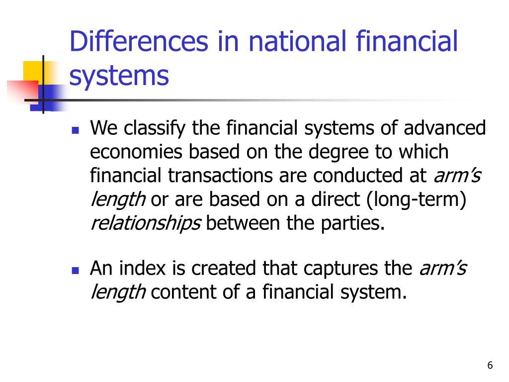 Differences in national financial systems