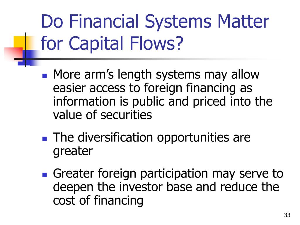 Do Financial Systems Matter for Capital Flows?