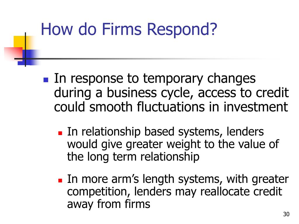 How do Firms Respond?
