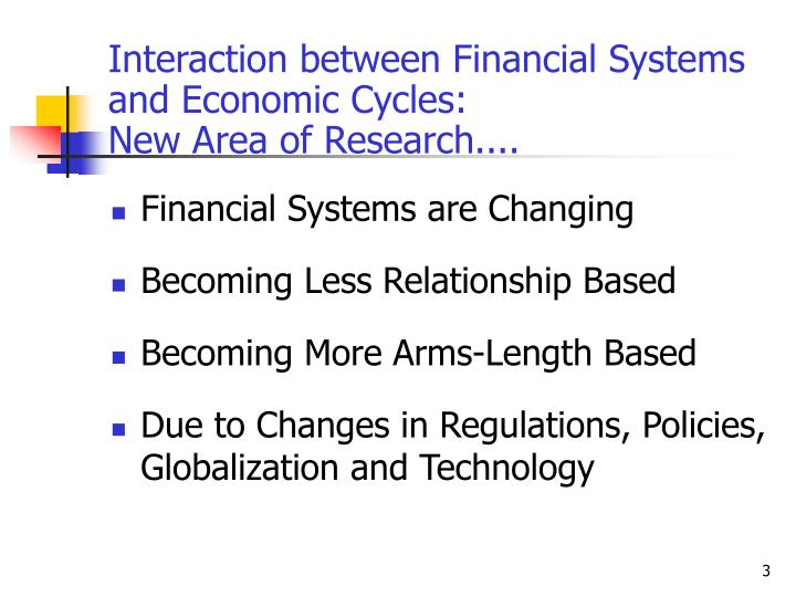 Interaction between financial systems and economic cycles new area of research l.jpg