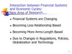 interaction between financial systems and economic cycles new area of research