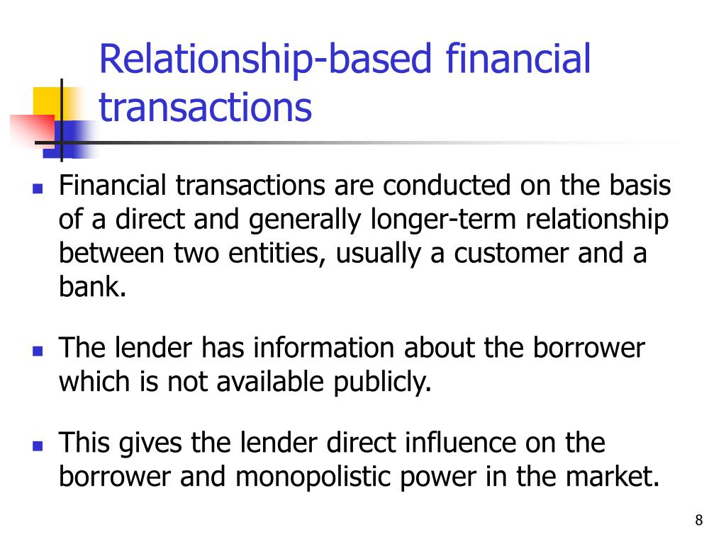 Relationship-based financial transactions