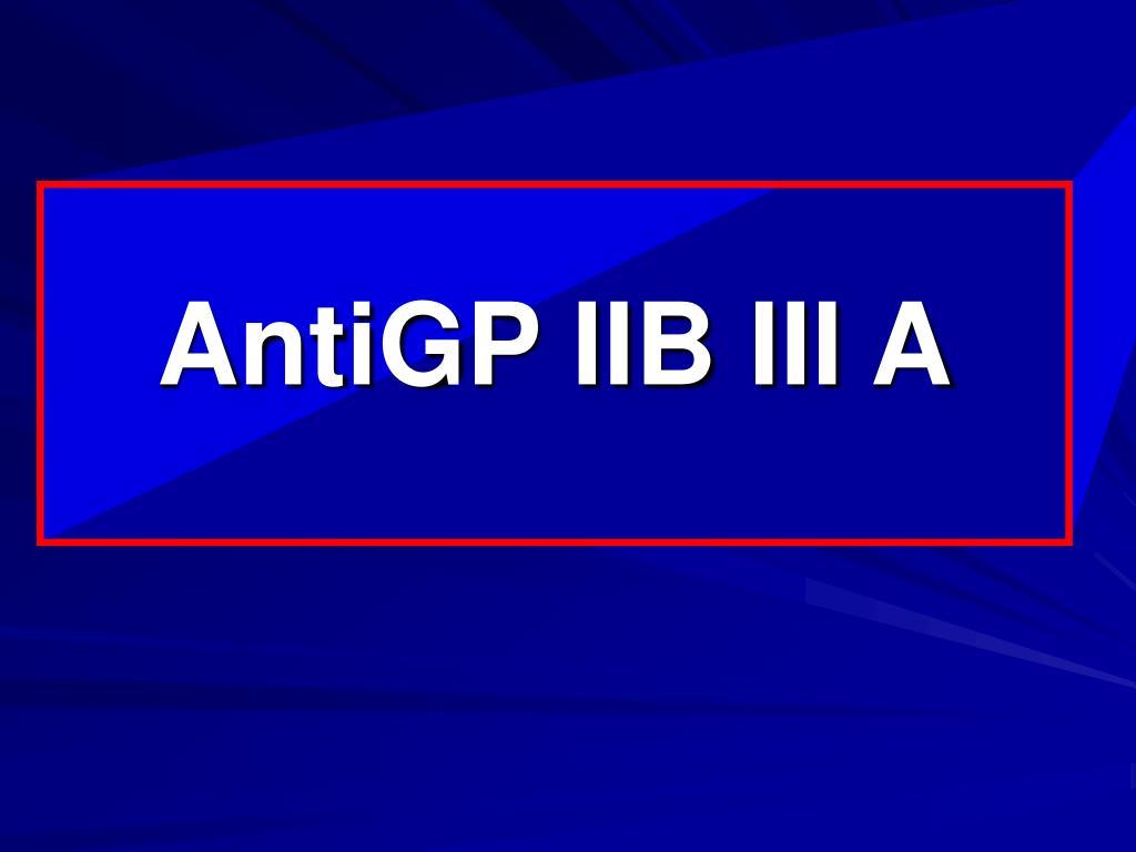 AntiGP IIB III A