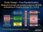 study design first randomization