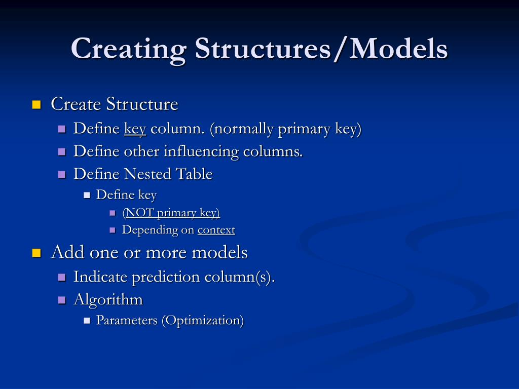 Creating Structures/Models