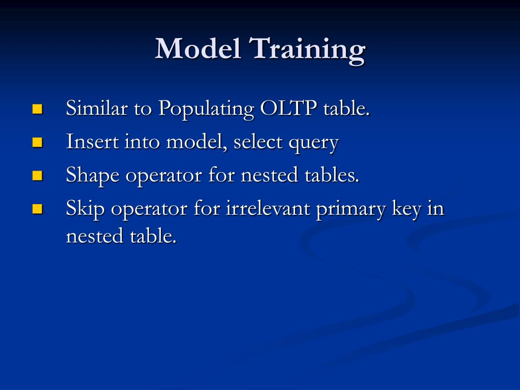 Model Training