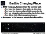 earth s changing place