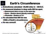 earth s circumference