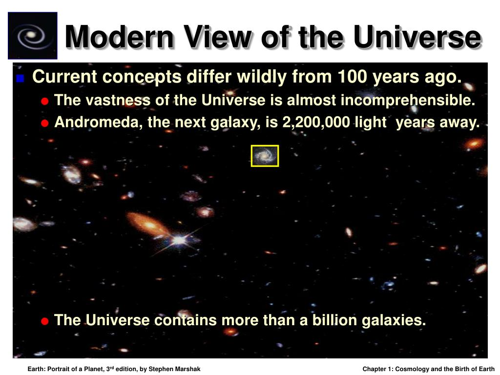 Modern View of the Universe
