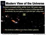 modern view of the universe18