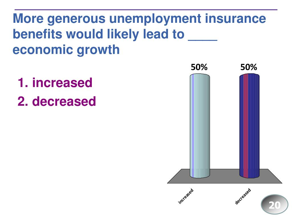 More generous unemployment insurance benefits would likely lead to ____ economic growth