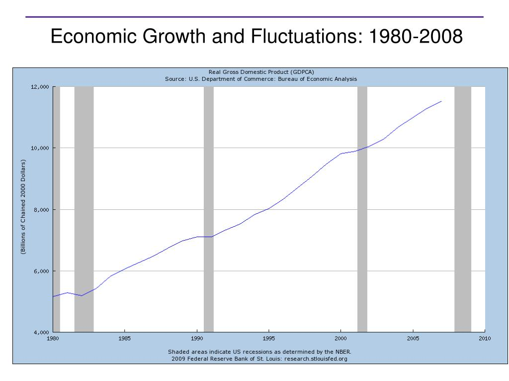 Economic Growth and Fluctuations: 1980-2008