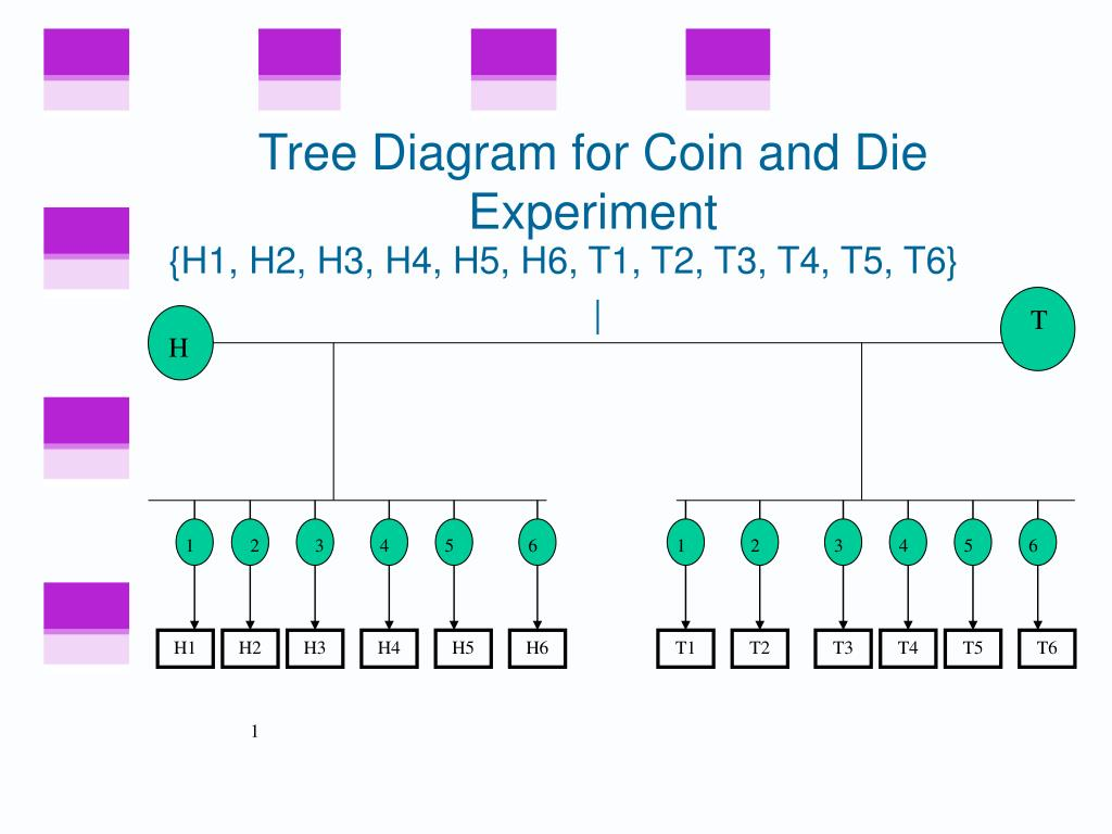 Tree Diagram for Coin and Die Experiment