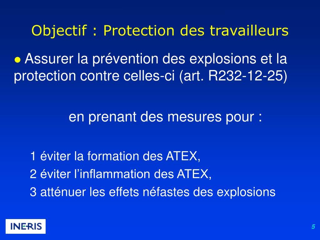 Objectif : Protection des travailleurs