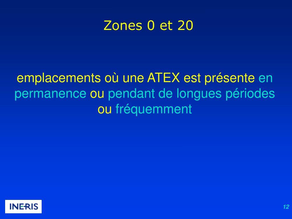 Zones 0 et 20